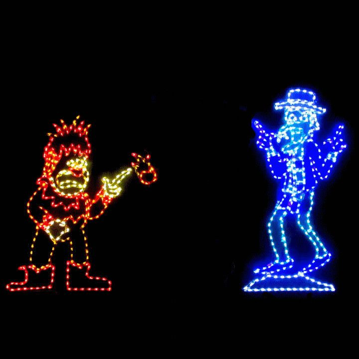 Animated Outdoor Christmas Decorations  LED Animated Christmas Display Miser Brothers