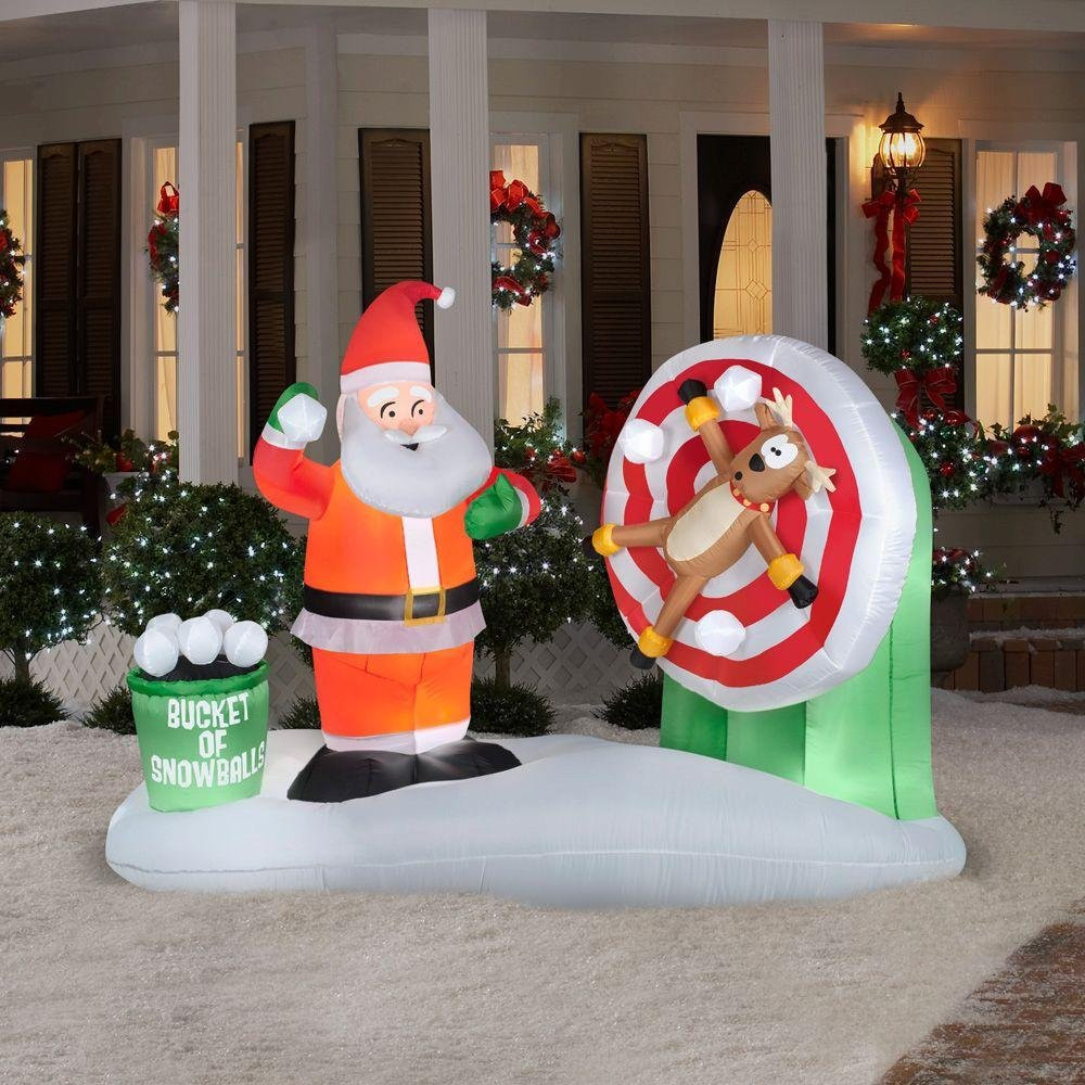 Animated Outdoor Christmas Decorations  Santa Claus Outdoor Inflatables Page Two