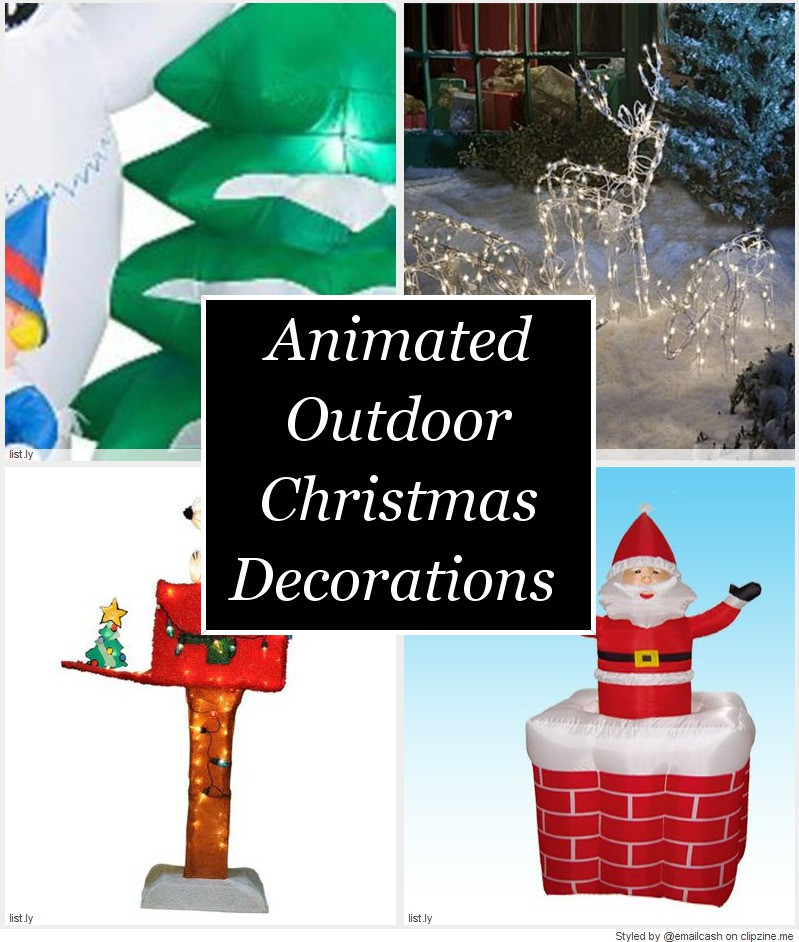 Animated Outdoor Christmas Decorations  Animated Outdoor Christmas Decorations