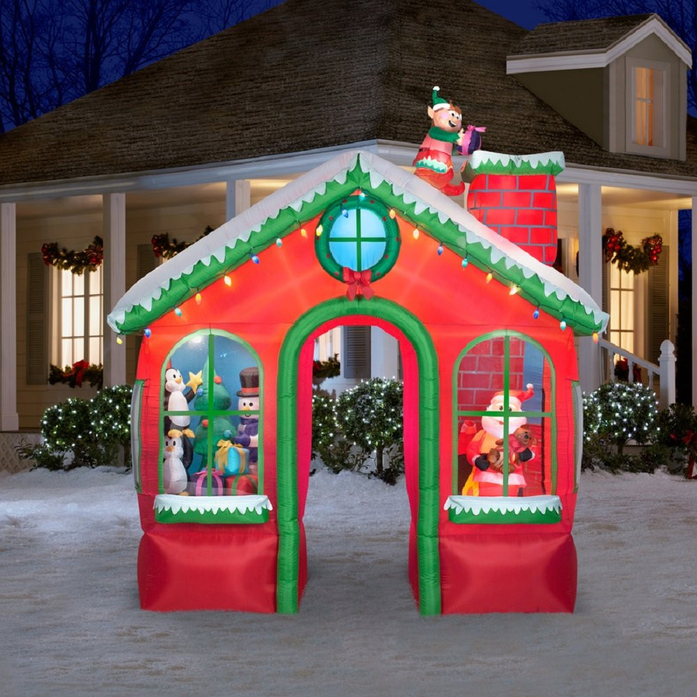 Animated Outdoor Christmas Decorations  Christmas Outdoor Inflatables Page Two