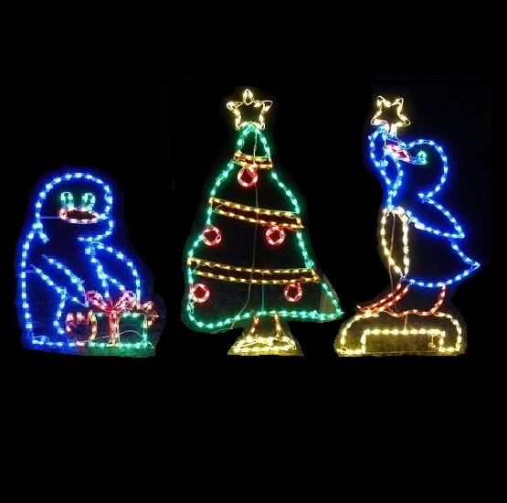 Animated Outdoor Christmas Decorations  LED Outdoor Christmas Decorations Lighted Animal