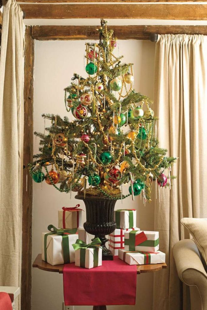 Apartment Sized Christmas Tree  30 Unique Christmas Tree Stand Decoration Ideas