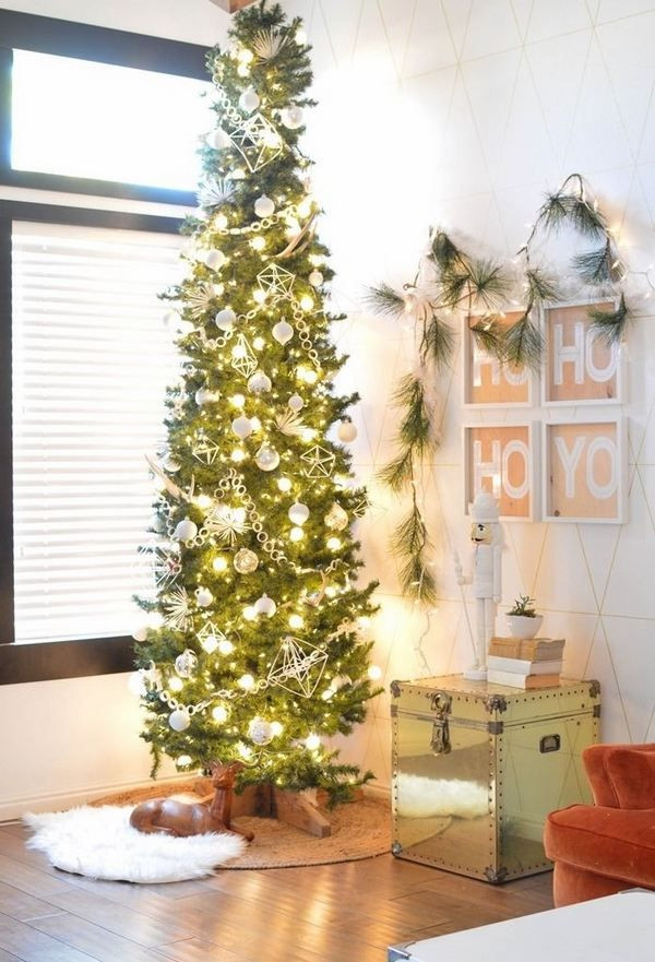 Apartment Sized Christmas Tree  pencil Christmas tree ideas small apartment decorating