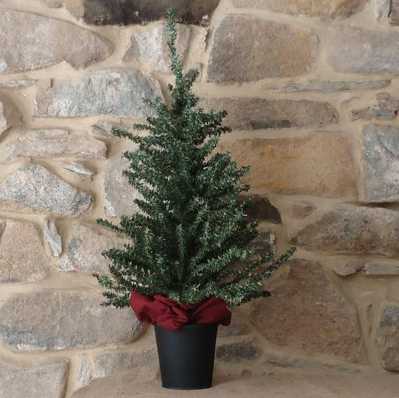 Apartment Sized Christmas Tree  Small Christmas tree 24 inch artificial tabletop tree
