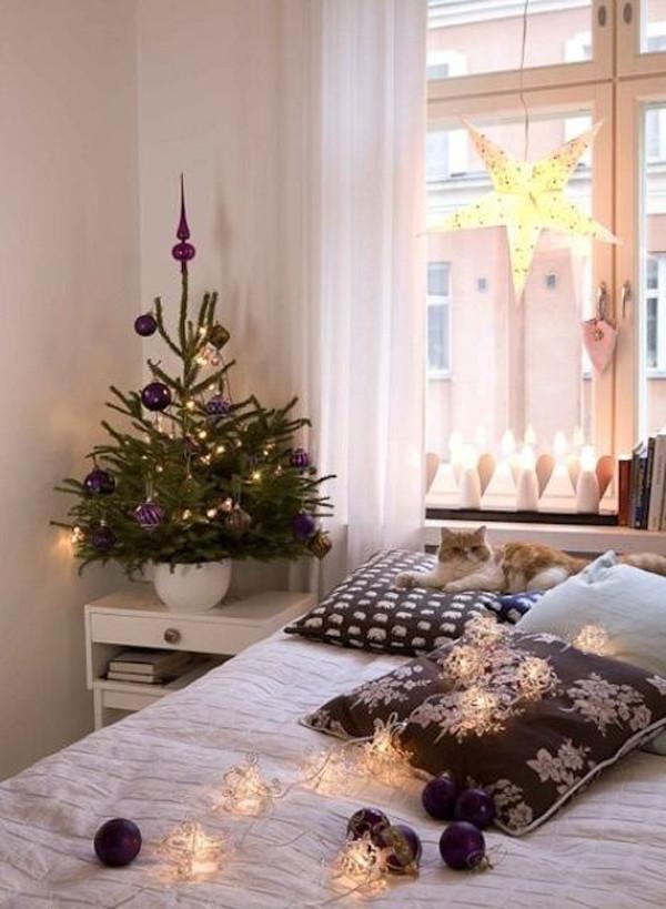 Bedroom Christmas Tree  33 Space Saving Christmas Tree Decor Ideas