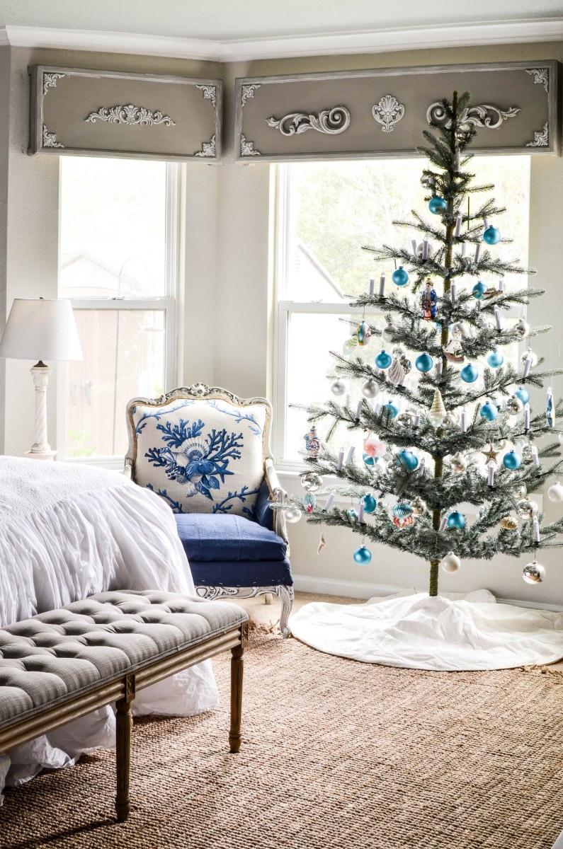 Bedroom Christmas Tree  Master Bedroom Coastal Christmas Tree Hop