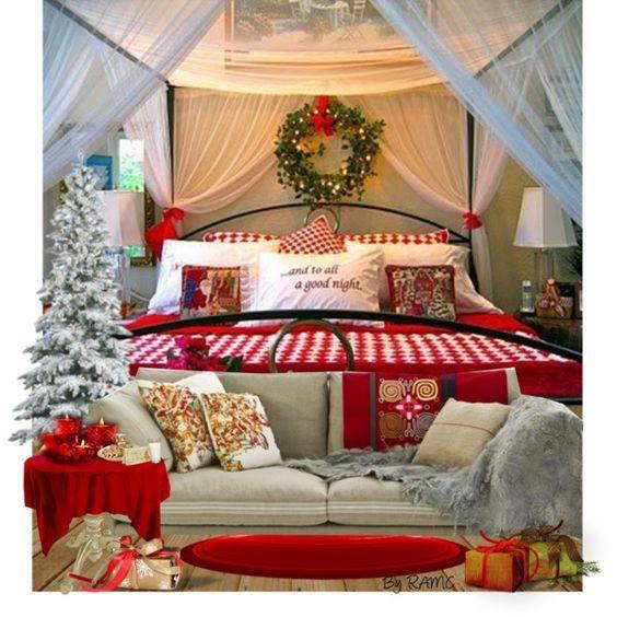 Bedroom Christmas Tree  40 Beautiful Christmas Décor Bedroom Ideas To Transform