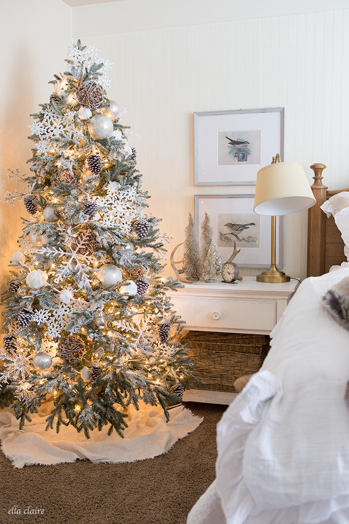 Bedroom Christmas Tree  Christmas Bedroom Ella Claire