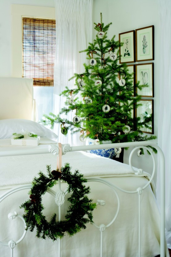 Bedroom Christmas Tree Elegant Dreaming Simple Christmas Decorating All Through the