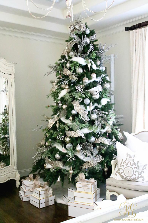Bedroom Christmas Tree  Christmas Home Tour Holiday Home Showcase 2016