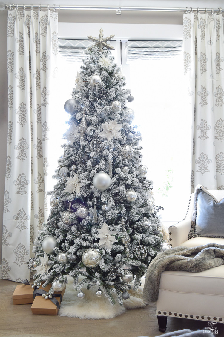 Bedroom Christmas Tree  Decked & Styled Holiday Tour A Christmas Bedroom
