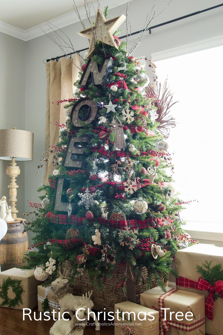 Cabin Christmas Tree  Craftaholics Anonymous