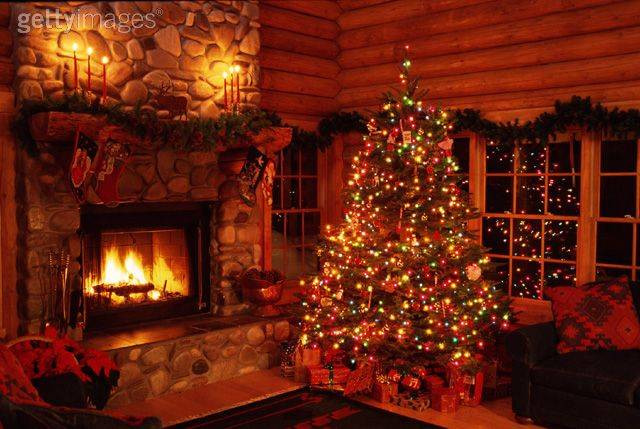 Cabin Christmas Tree  Residential Log Cabin Tips How to Decorate Your House for
