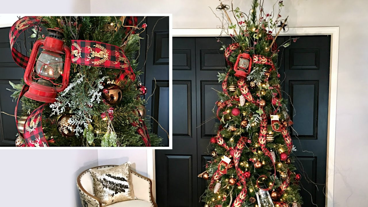 Cabin Christmas Tree  Northwoods Christmas Tree Cabin Style Christmas Tree