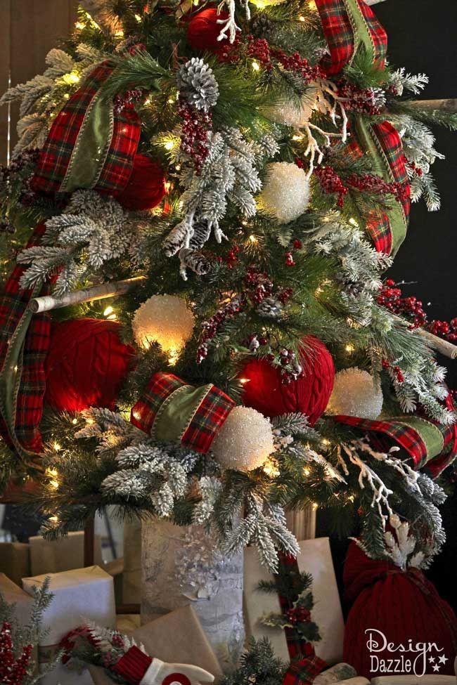 Cabin Christmas Tree  Best 25 Plaid christmas ideas on Pinterest
