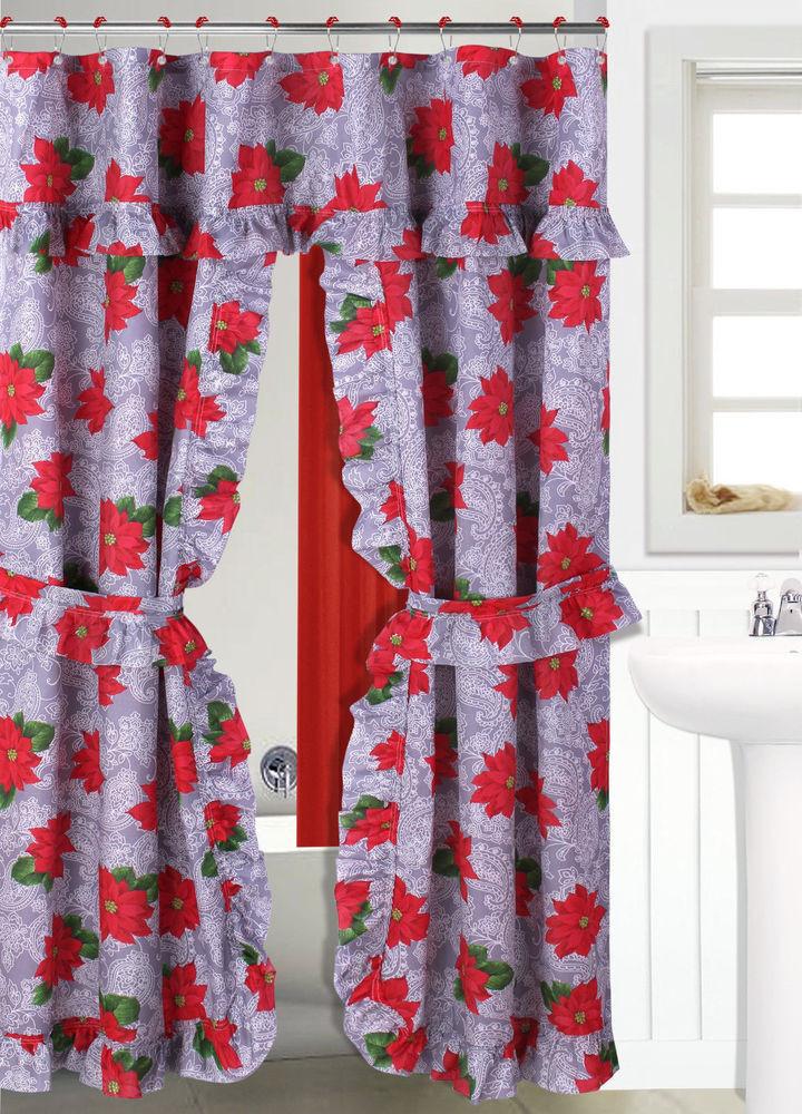 Christmas Bathroom Curtains Best Of Double Swag 9 Christmas Holiday Design Bathroom Bath