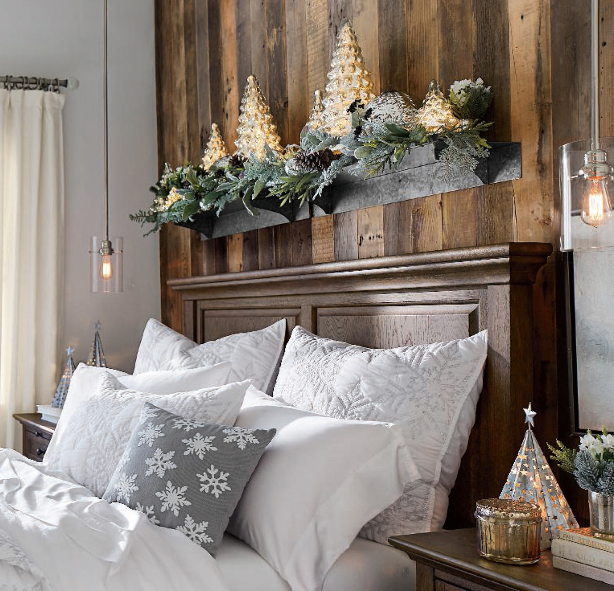 Christmas Bedroom Decorating Ideas  Rustic Christmas Decorating Ideas Country Christmas Decor
