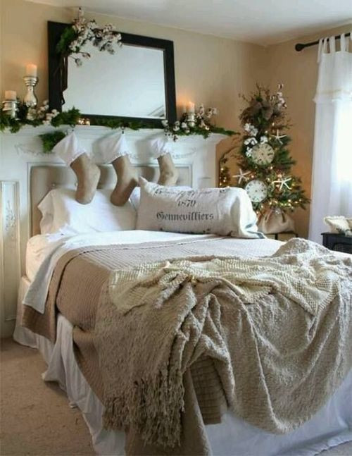 Christmas Bedroom Decorating Ideas  32 Adorable Christmas Bedroom Décor Ideas DigsDigs