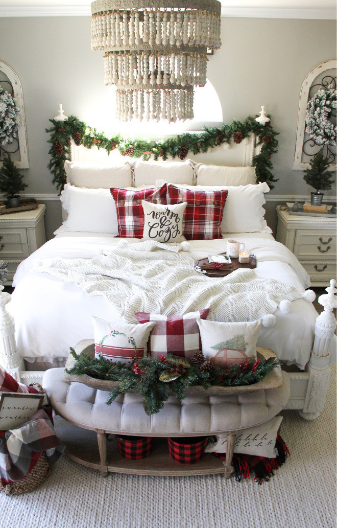 Christmas Bedroom Decorating Ideas  Category Christmas Decorating Ideas Home Bunch Interior