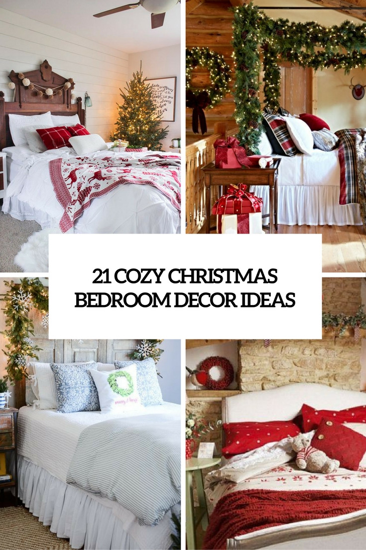 Christmas Bedroom Decorating Ideas  Bedrooms Archives Shelterness