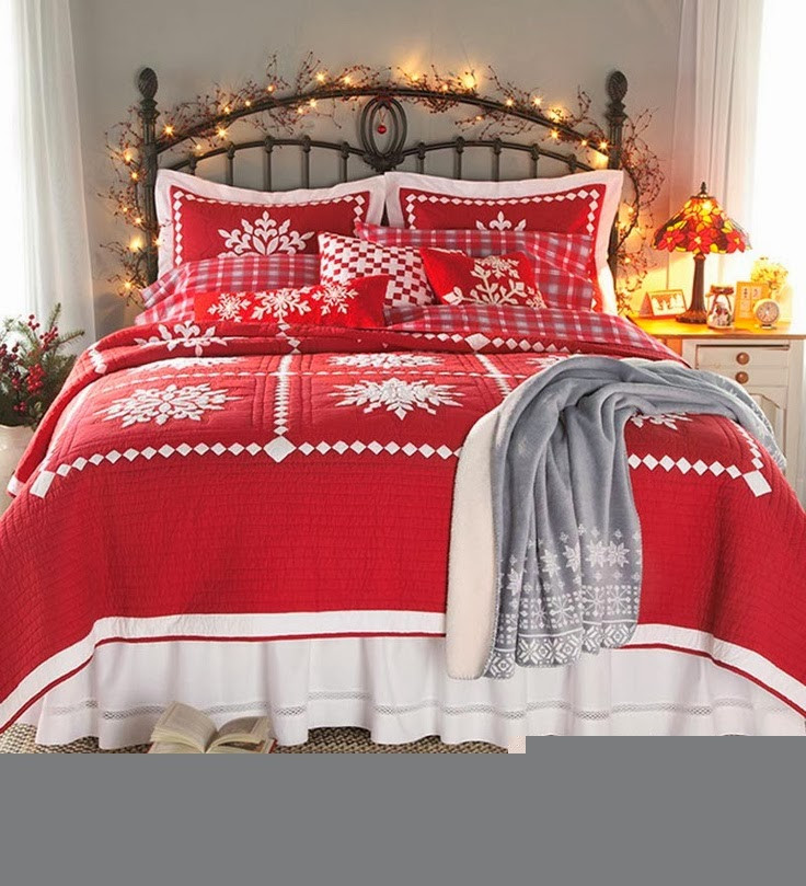 Christmas Bedroom Decorating Ideas  Shabby in love Christmas Bedroom Decorating Ideas