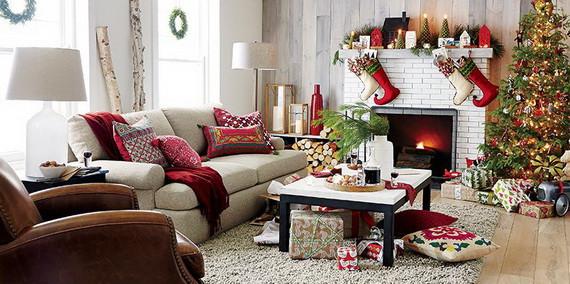 Christmas Decor For Living Room  60 Elegant Christmas Country Living Room Decor Ideas