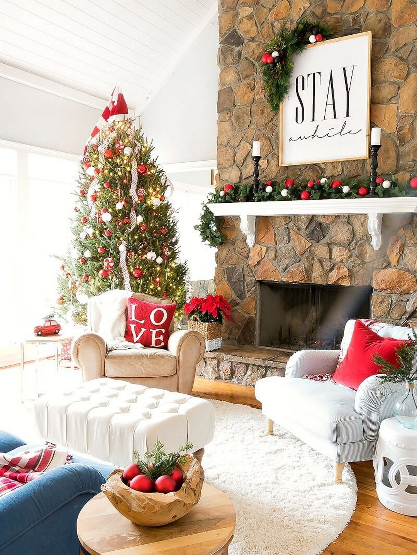 Christmas Decor For Living Room  32 Wonderful and Beautiful Christmas Living Room Decor Ideas