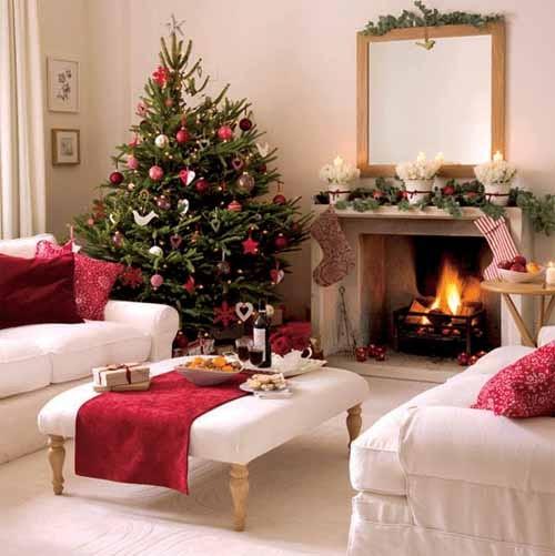 Christmas Decor For Living Room  55 Dreamy Christmas Living Room Décor Ideas DigsDigs