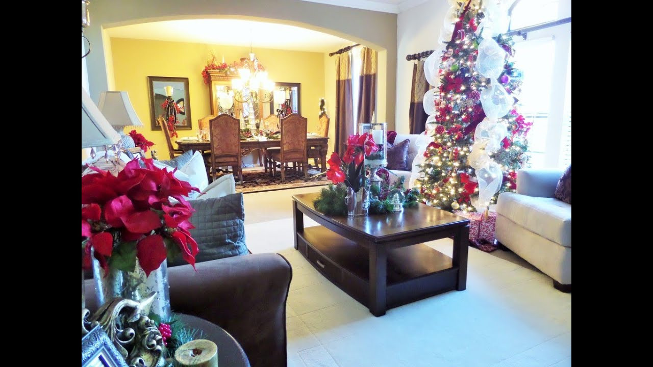 Christmas Decor Living Room  Decorating For Christmas Christmas Living Room Tour