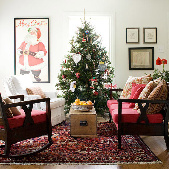 Christmas Decor Living Room  25 Christmas living room design ideas