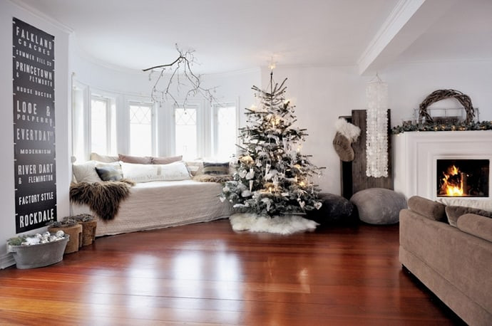 Christmas Decor Living Room  30 Living Room Christmas Decorations
