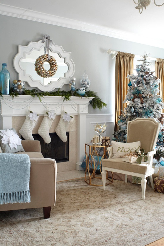 Christmas Decor Living Room  55 Dreamy Christmas Living Room Décor Ideas DigsDigs