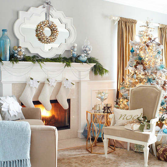 Christmas Decor Living Room  33 Best Christmas Country Living Room Decorating Ideas