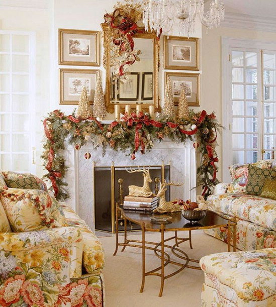 Christmas Decor Living Room  30 Stunning Ways to Decorate Your Living Room For