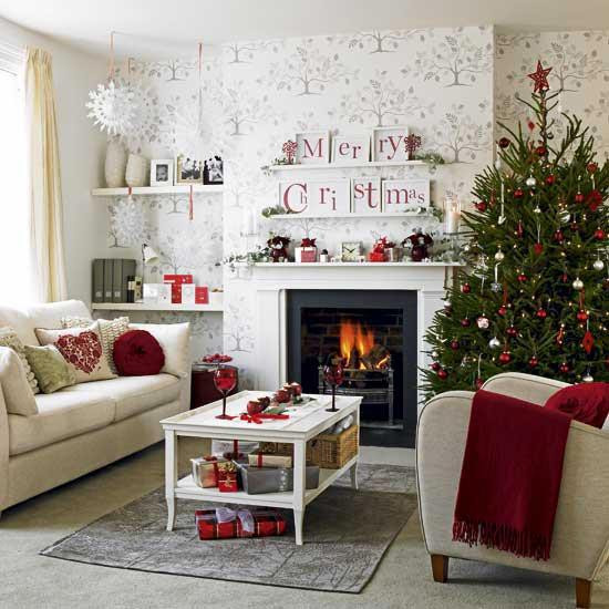 Christmas Decor Living Room  Merry Christmas Decorating Ideas for Living Rooms and