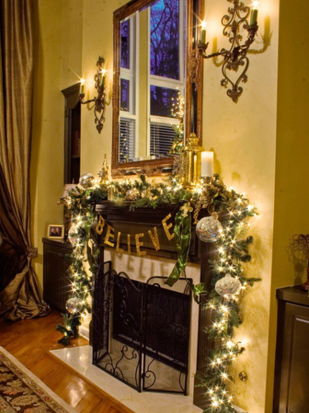 Christmas Decoration Fireplace Mantel  Christmas and Holiday Mantel Designs and Ideas Design