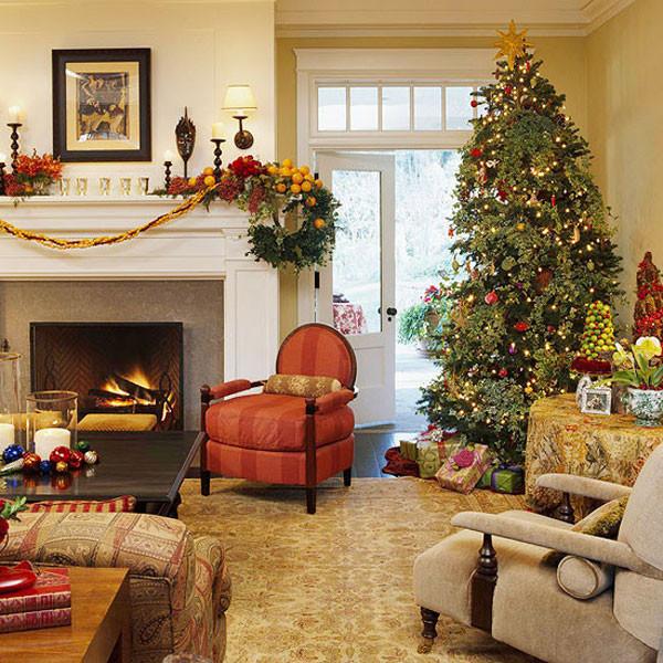 Christmas Decorations Living Room  40 Traditional Christmas Decorations