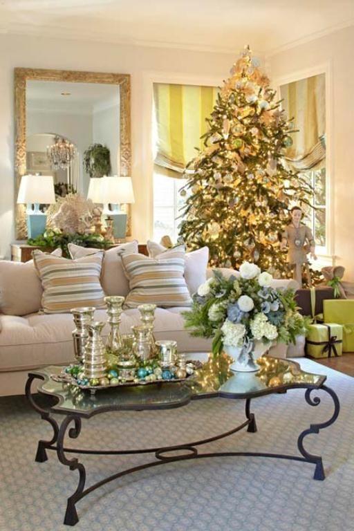 Christmas Decorations Living Room  55 Dreamy Christmas Living Room Décor Ideas DigsDigs