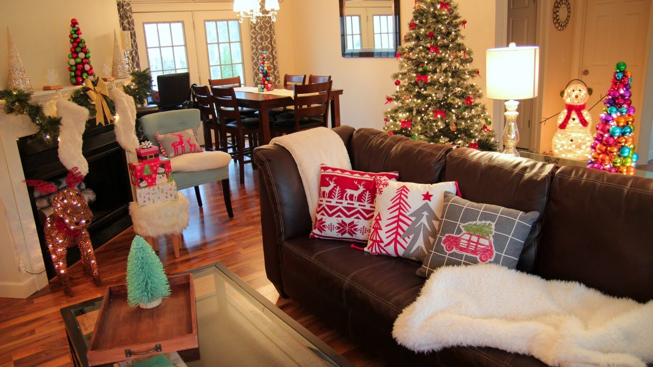 Christmas Decorations Living Room  Decorating For Christmas Christmas Living Room Tour