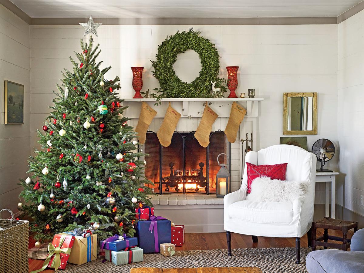 Christmas Decorations Living Room  Living Room Design Decor Ideas Southern Living