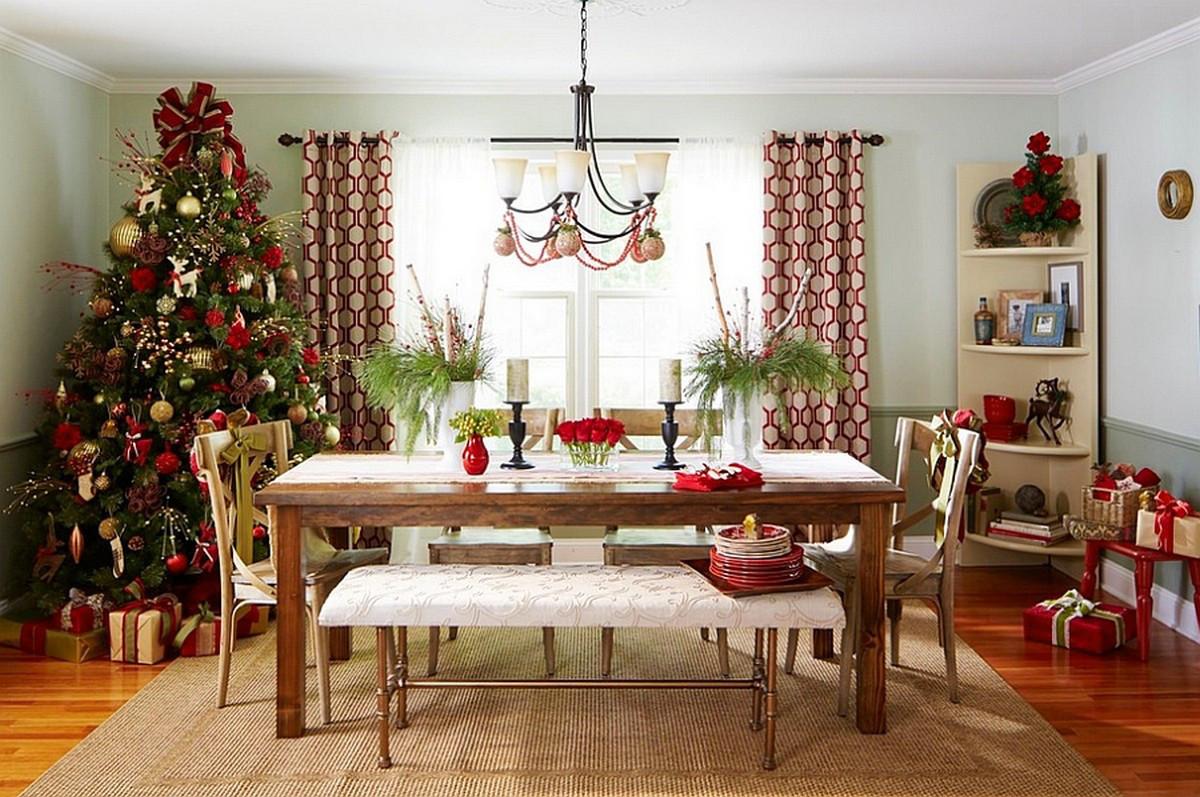 Christmas Dining Room  Christmas Dining Room Decor