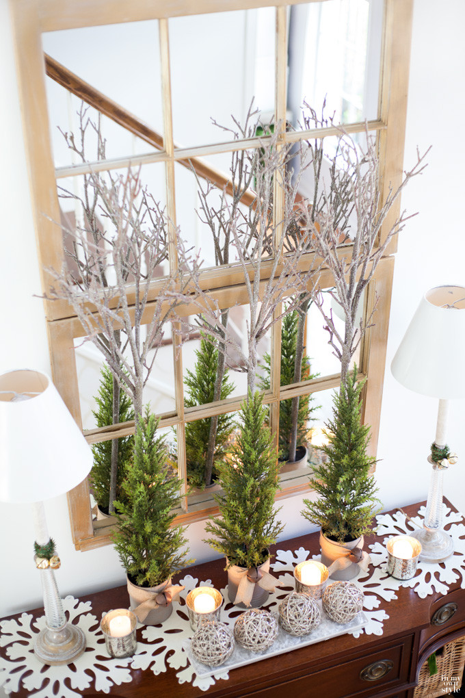 Christmas Entryway Decor  Christmas Decorating In My Foyer In My Own Style