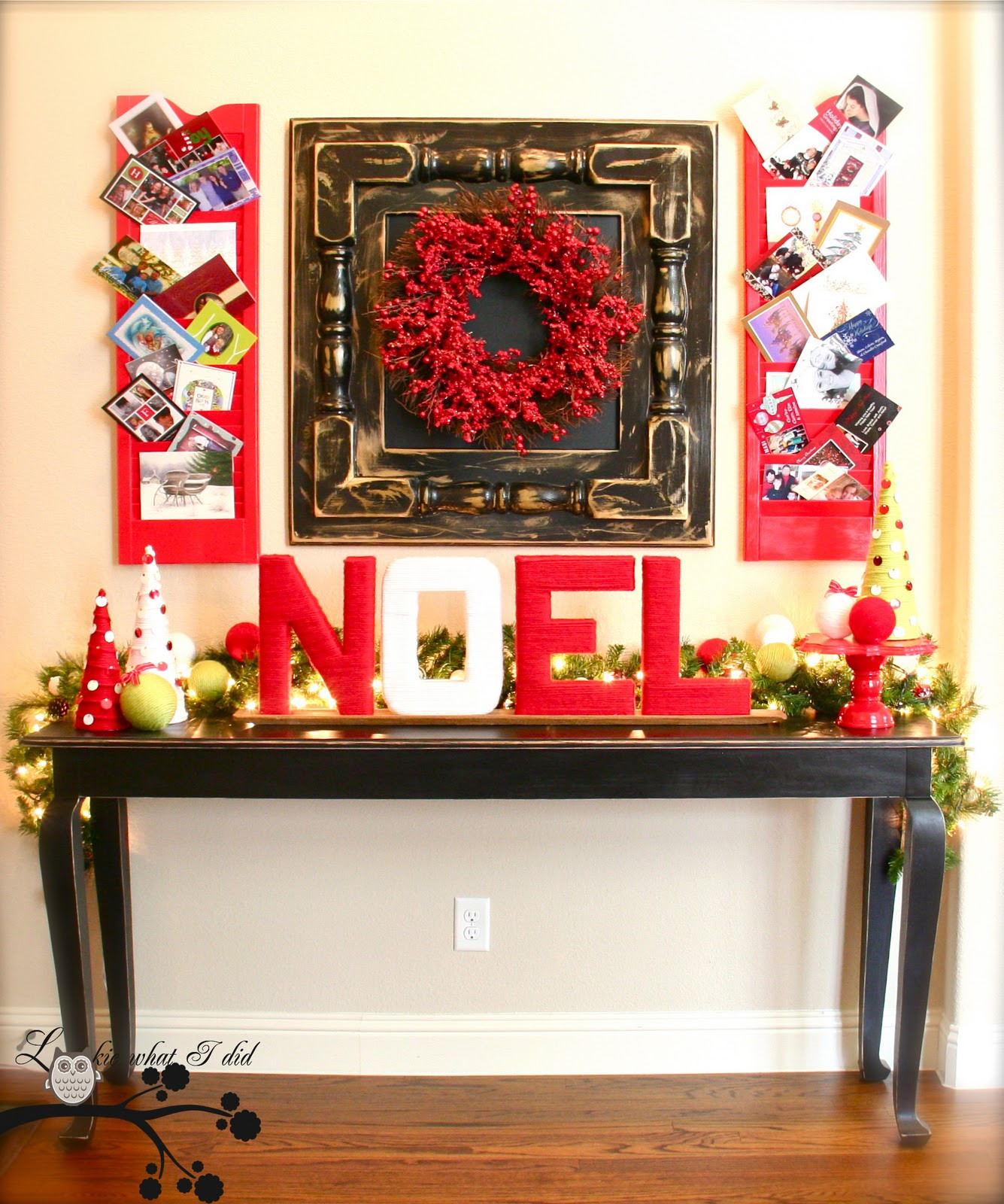 Christmas Entryway Decor  Lookie What I Did It s A Handmade Holiday