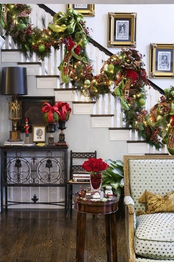 Christmas Entryway Sets  50 Fresh Festive Christmas Entryway Decorating Ideas