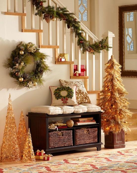 Christmas Entryway Sets  Top 40 Christmas Entryway Decoration Ideas Christmas