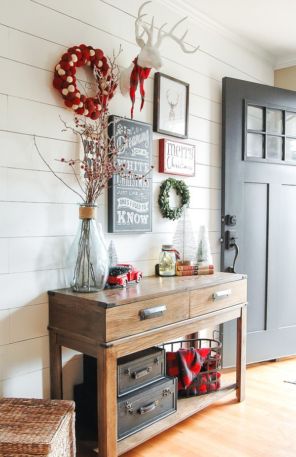 Christmas Entryway Sets  Great Christmas Entryway Ideas And Decor Tips To Make It
