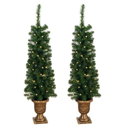 Christmas Entryway Trees  Jolly Workshop 4 Artificial Entryway Christmas Tree with