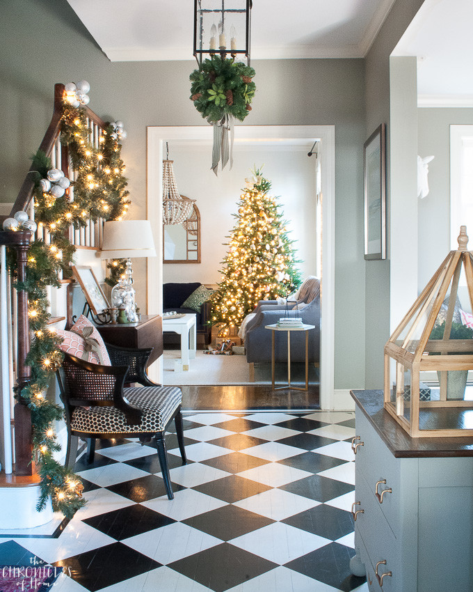 Christmas Entryway Trees  Christmas Entryway All Through the House Tour The