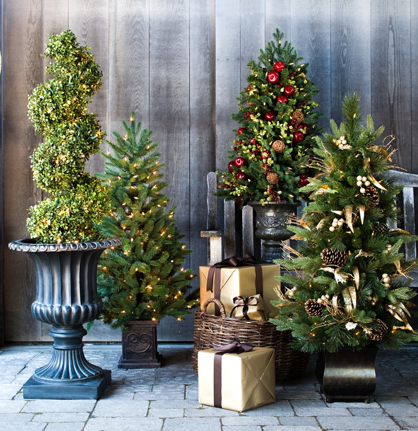 Christmas Entryway Trees  Captivating Winter Entryways with Balsam Hill