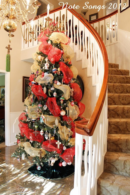 Christmas Entryway Trees  19 best Christmas tree in foyer images on Pinterest